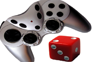 game controller and dice